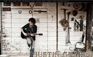 Justin Guarini Using WordPress Website Platform