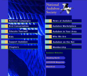 National Audubon Society Website from 1990s