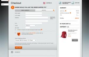 Nike Checkout Page