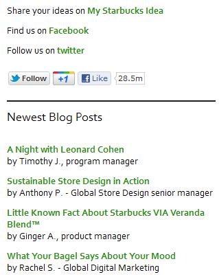 Social Media Profiles in Website Sidebar Design