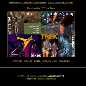 Trek Bikes Website From The 1990s