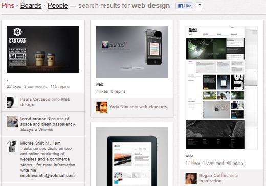 Web Design on Pinterest