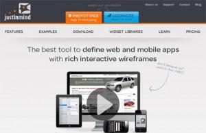 Justinmind Wireframing program