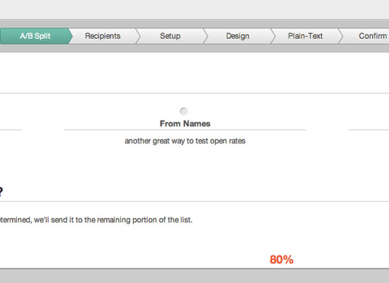 AB split testing for email campaigns