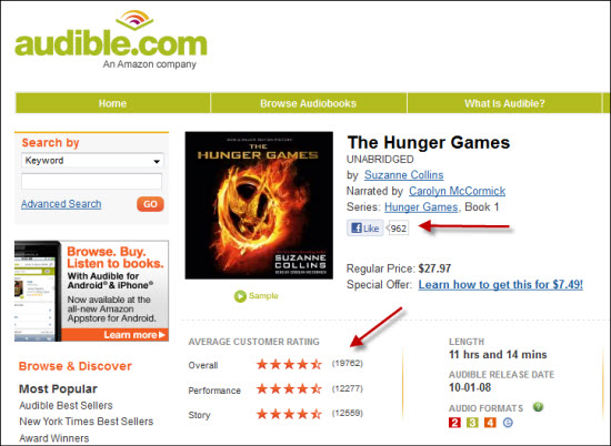 Audible Social Proof