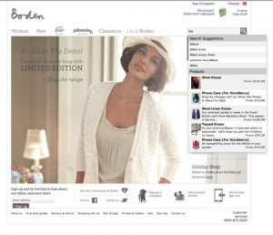 Boden home page