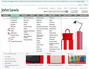 John Lewis navigation example