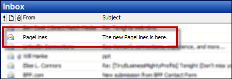 Pagelines Email Subject Line