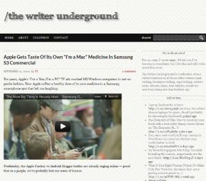 Writer Underground