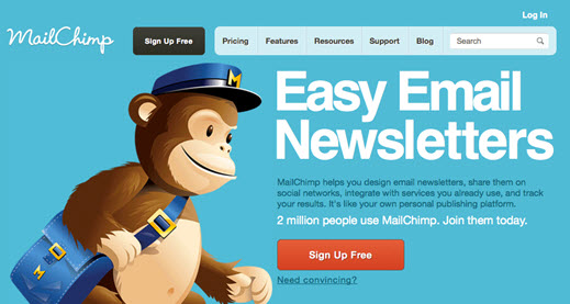 Mail Chimp Color Scheme