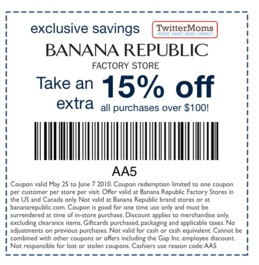 banana republic exclusive offer