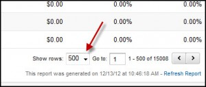 Export more than 500 rows in Google Analytics