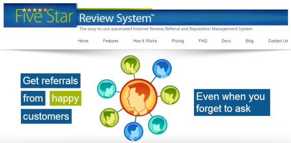 the 5 Star Review home page