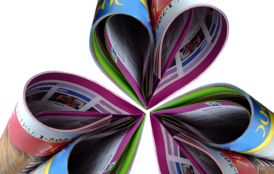 heart shaped magazines