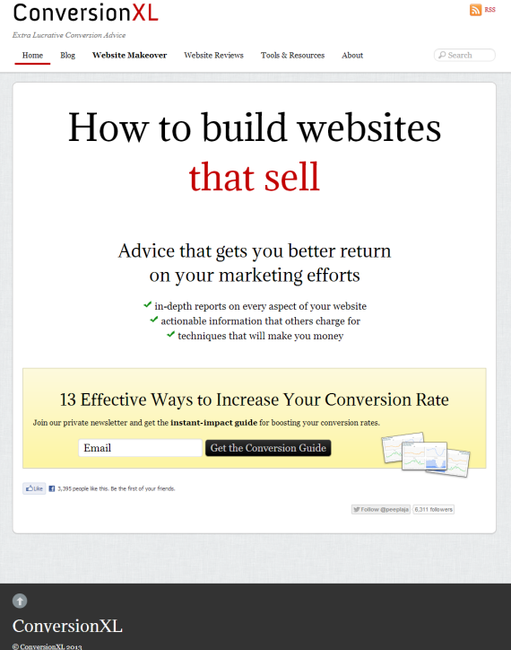conversion xl home page