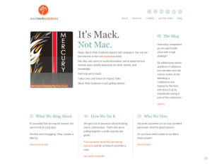 mack web solutions home page