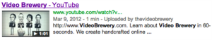 Video Brewery Rich Snippet