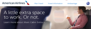 header from american airlines website