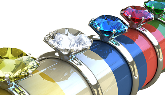 diamond rings of different colors