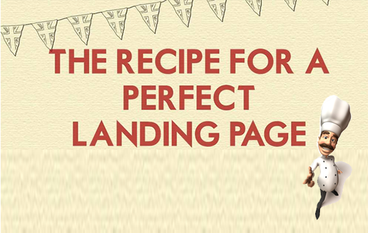 recipe for landing page
