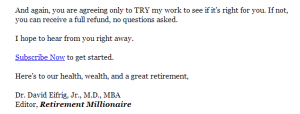 cta from retirement millionaire promo