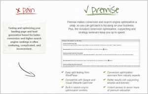 Premise landing page
