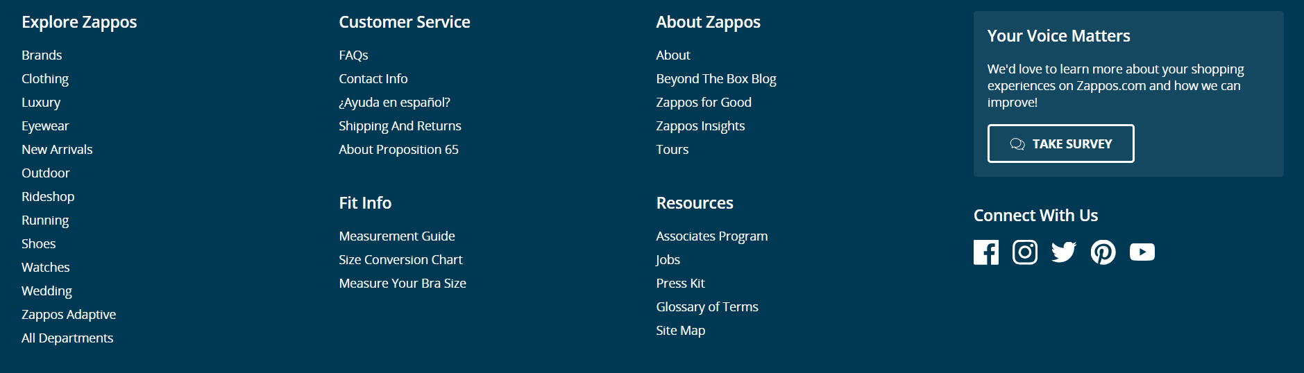 website-navigation-zappos-footer