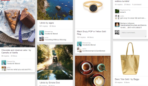Pinterest is a picture-heavy page