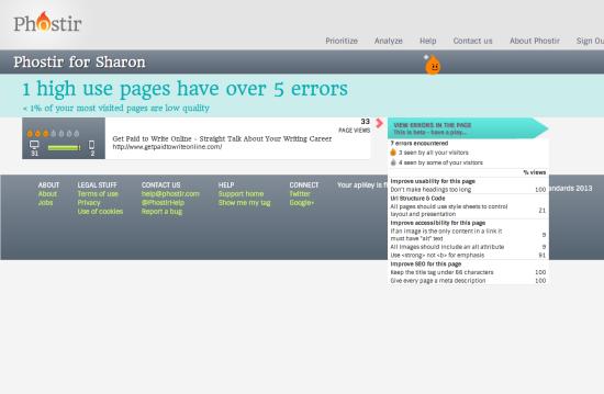 Phostir errors