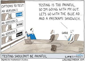 cartoon showing how optimization decisions are usually made