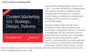 screenshot of content ad
