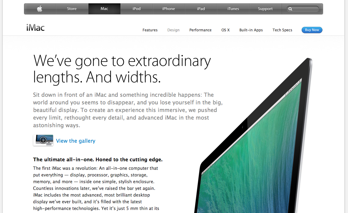 secondary page from Apple