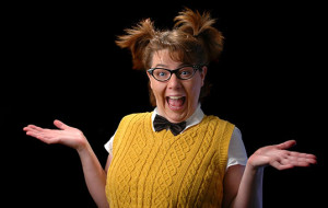 nerdy woman