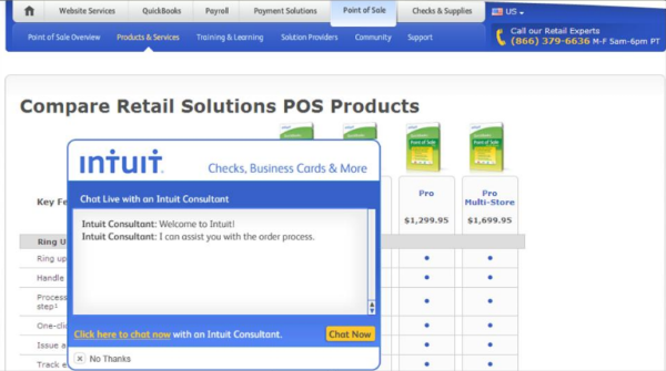 Live Chat Improves Conversions For Intuit