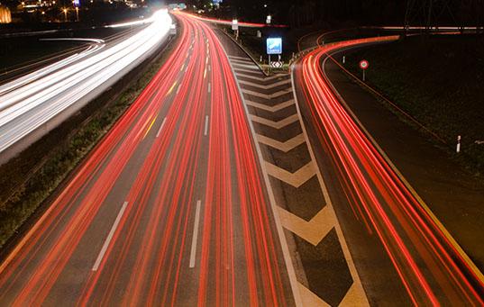 Highway by night