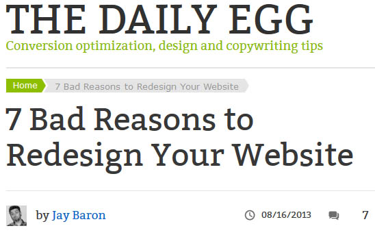 Bad Reasons to Redesign