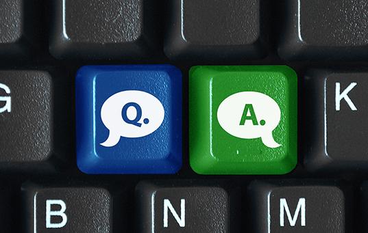 """""""Q&A"""" keys on keyboard"""