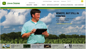 Home Page of John Deere Telling A Story