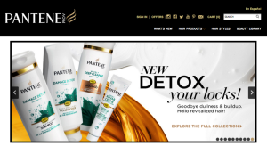 Pantene Home Page Slider Detox