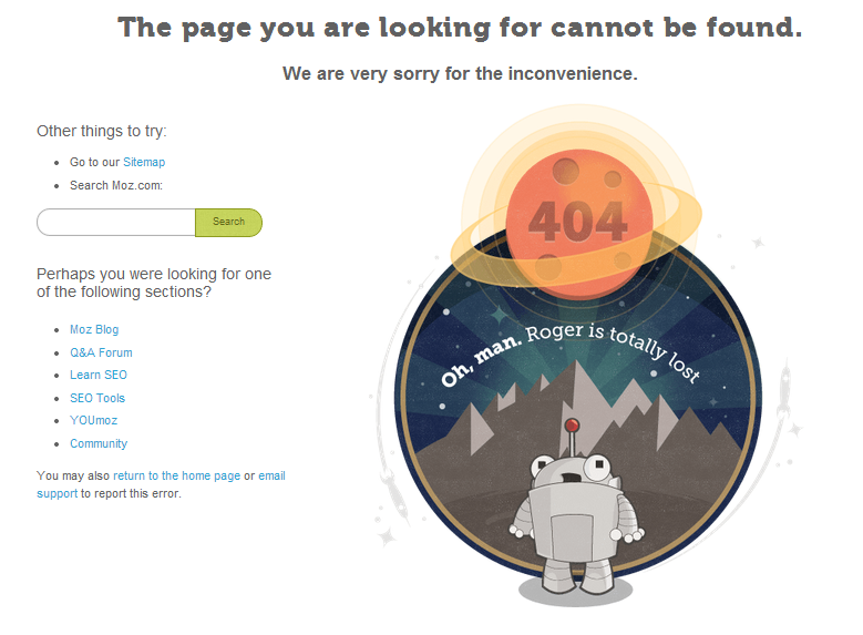 Moz 404 page