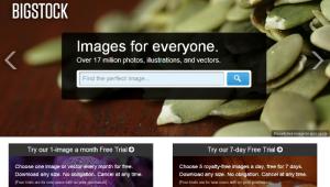 Bigstock home page