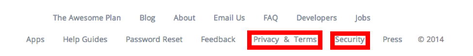 privacy terms security