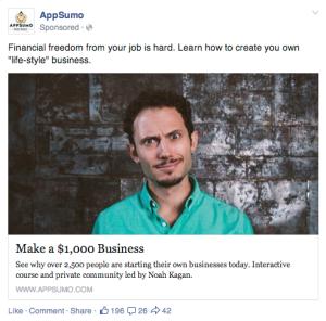 AppSumo Facebook Ad