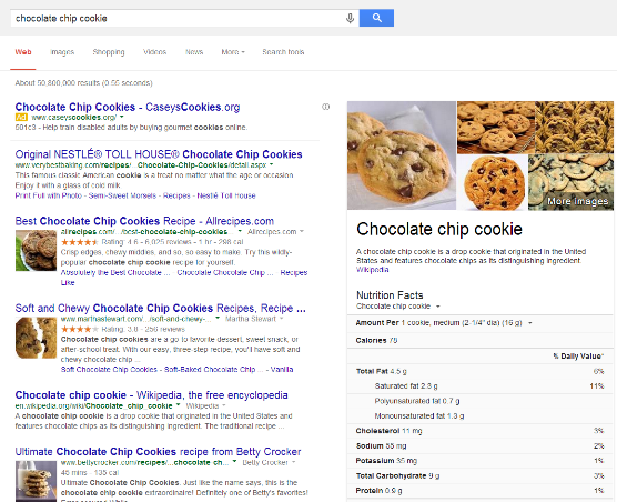 chocolate chip cookie Google Search