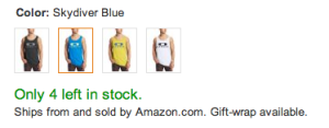 Amazon scarcity message