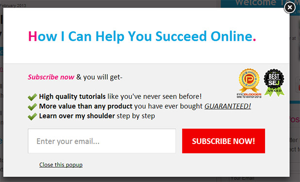 opt in pop ups are they any good?Opt In Popup #6