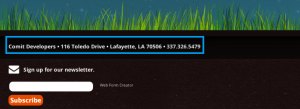 This website uses a physical address and phone number