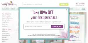 Wayfair first time