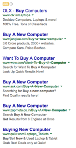text ad examples