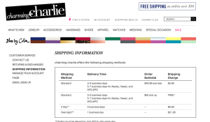 Holiday free shipping guidelines